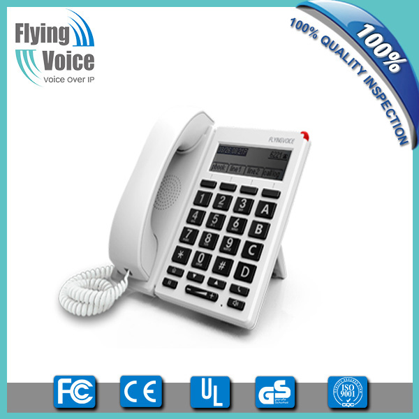 2016 latest style wireless wifi big button 4 lines phone system with big LCD FIP12W for seniors