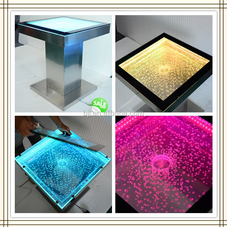Dining Room Furniture Water Led Acrylic Bubble Waterfalls Home Bar Counter