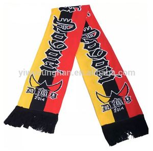 Promotional good quality custom acrylic jacquard football scarf