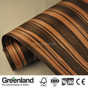 0.60MM thickness Engineered Ebony Wood Veneer for Wall Panelling