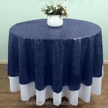 72u0026quot; Round Navy Blue Sequin TableCloths Table Linens Overlays Wedding  Party Table Sparkly Glitz Decoration