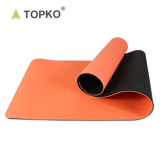TOPKO Цена по прейскуранту завода двойной слой частная этикетка резиновый коврик для йоги