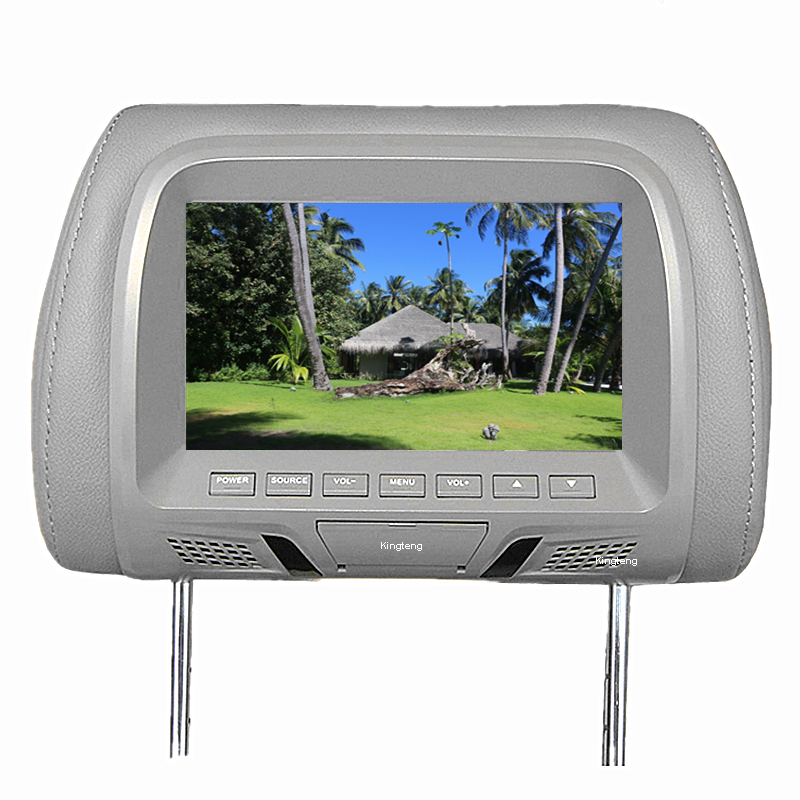 Custom Cheap Price 7 Inch TFT LCD Car Headrest Monitor With Pillow