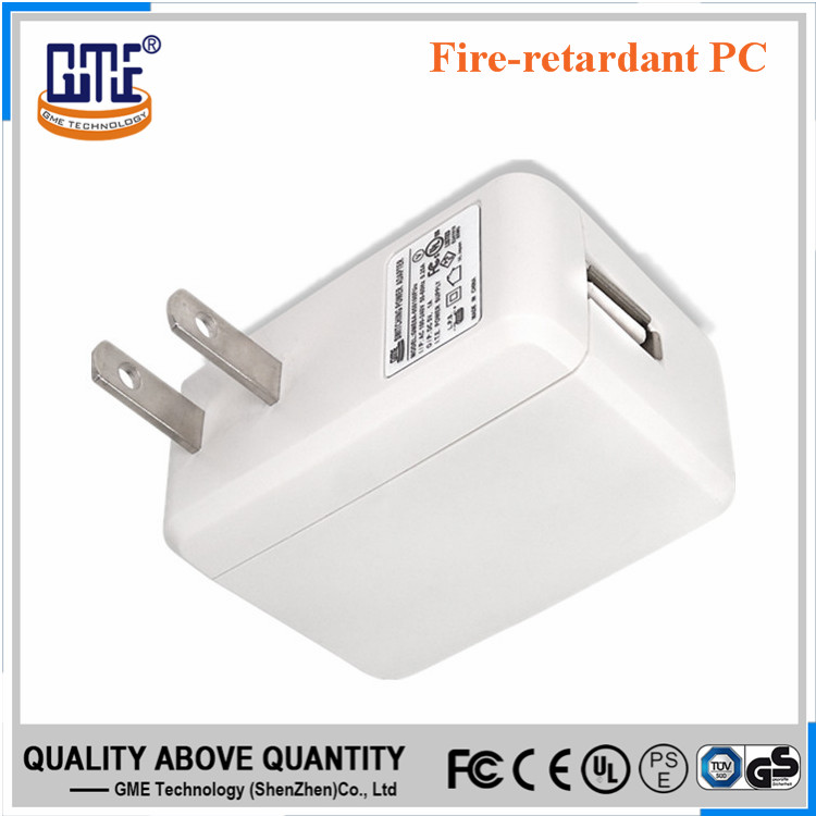 HongKong exhibition UL/FCC/DOE VI micro usb 220v 5V 1A ac dc power adapter