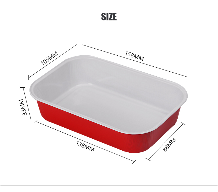 Airline Coated Aluminium Foil Food Container Airline Meal Tray