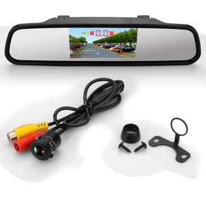 Buzzer car parking sensor 4.3 inch LED display rear view camera