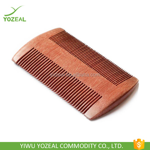 High quality green and red sandalwood stretch hair comb