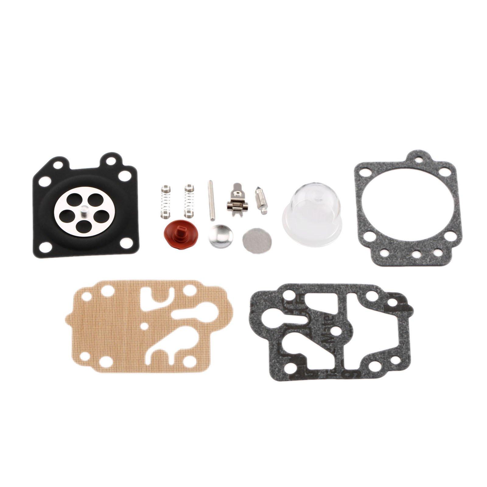 Aupoko 43CC 52CC Brush Cutter Carburetor Gasket Kit and Primer Bulb 40-5/44F-5 34F 36F 139F Grass Trimmer Carburetor Repair Gasket Kit