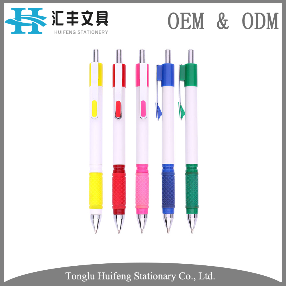 HF5289C OEM high quality big manufacture wholesale promotional plastic flexible ball pen for school writing