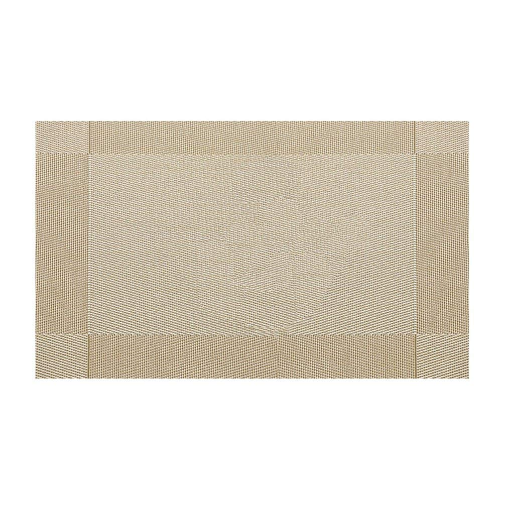 YCDC gold Cross Weave, PVC Place Mat, Non-slip, Stain Resistant,Washable Table Mats, For Kitchen Dining Table 2pcs Cross Weave PVC Place Mat Heat Insulation Washable Dining Table Mats