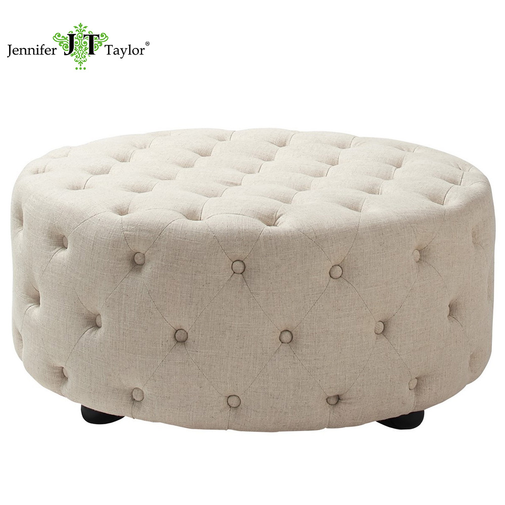 - Turkish Furniture Set Fabric Large Round Coffee Table Ottoman