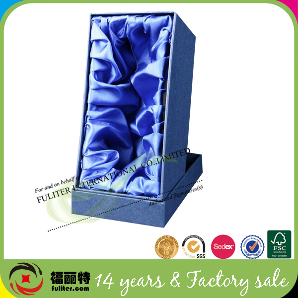 Custom Luxury Wine Glass Packaging Paper Cardbord Boxes