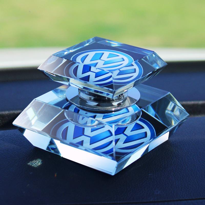 High Quality Hot Sale 50ml Diamond shape K9 Crystal Car Perfume Bottle