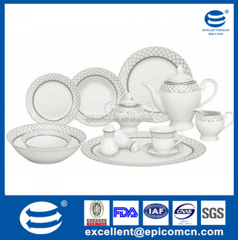 food safe royal French style modern ceramic tableware china dinner set made in chinese factory  sc 1 st  Alibaba & Food Safe Royal French Style Modern Ceramic Tableware China Dinner ...