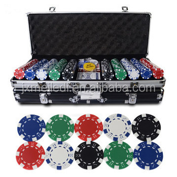 Standard fashion craft aluminum poker case with chips