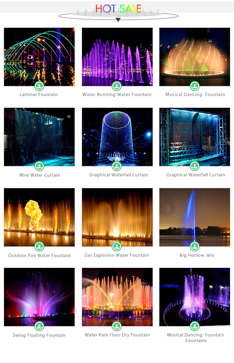 nozzle dancing musical small outdoor pool china fountain water garden