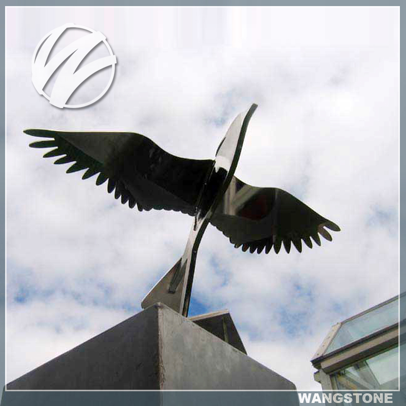 Outdoor Abstract Metal Flying Bird Sculptures