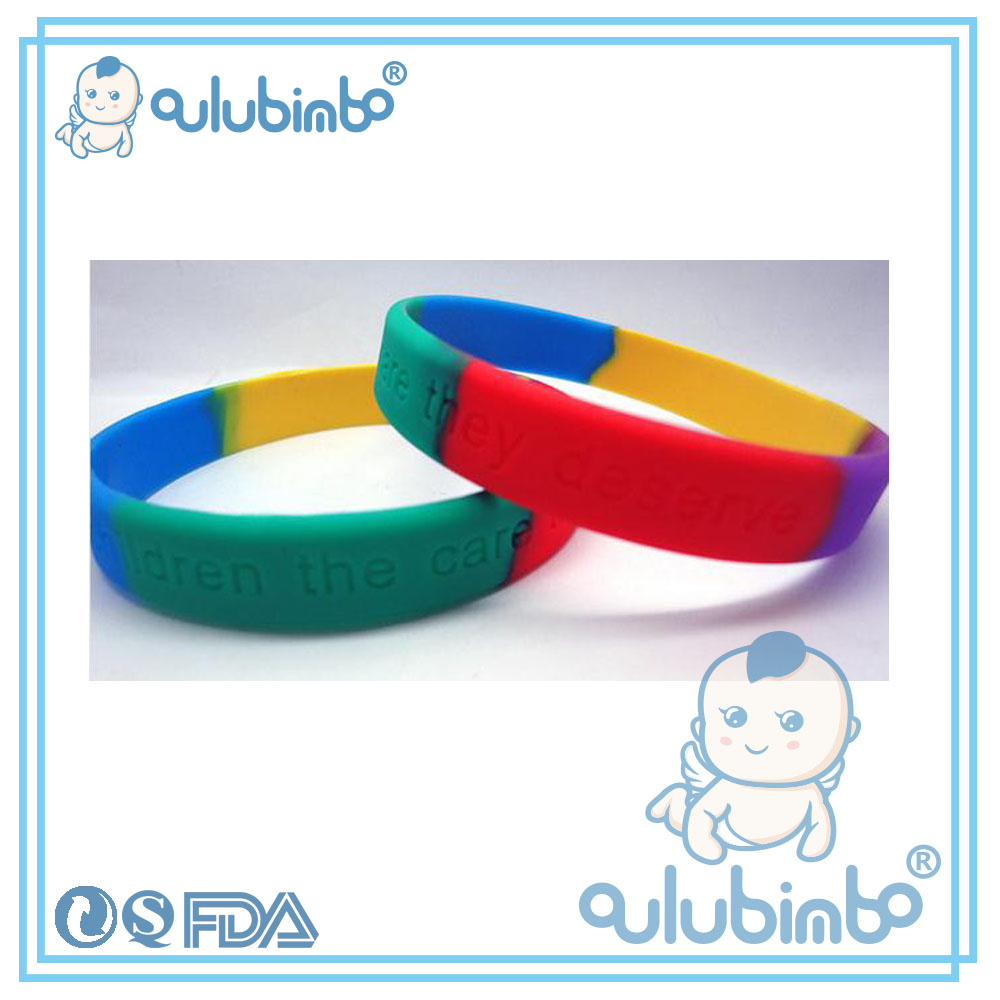 Fashion Supply color changing Stitching multicolor silicone bracelet bracelet accessories