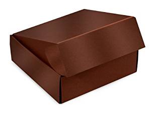 "Decorative Shipping Boxes - Chocolate Gourmet Shipping Boxes 6x6x2"" Auto Lock Boxes - (6 Per Pack) - WRAPS - 50CH"