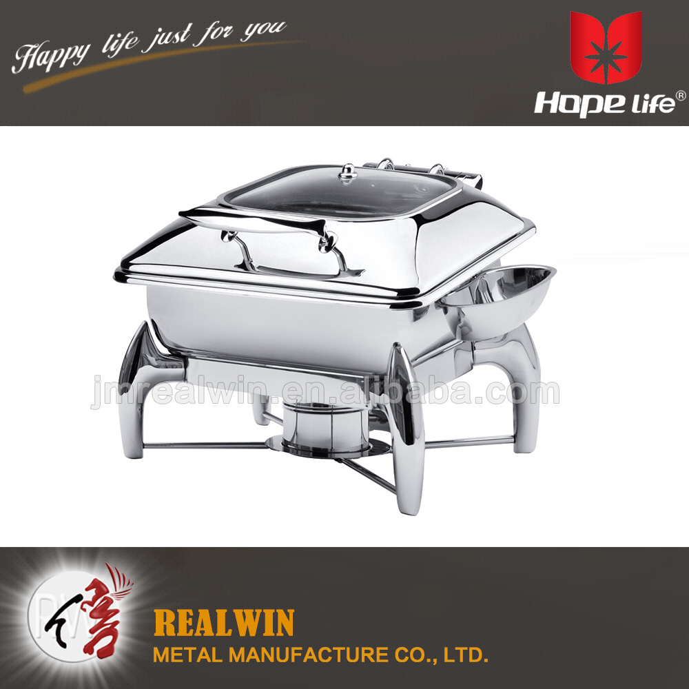 Stainless Steel Square Hydraulic Mechanical Induction Chafing Dish for wholesale