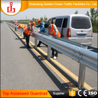 Top Accessed guardrail supplier / Complete specifications Two waves Corrugated Beams guardrail