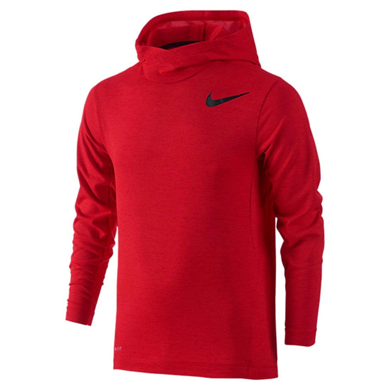 a6bdd9ea3153 Nike Kids Training Hoodie Little Kids Big Kids University Red Black Boy s  Clothing