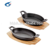Fish shaped cast iron steak sizzler plate with best price