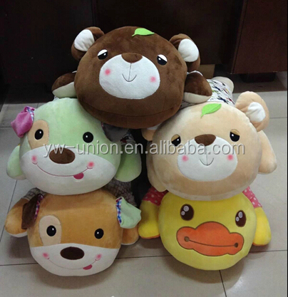 Crystal baby children cushion and pillows , various animals soft toys