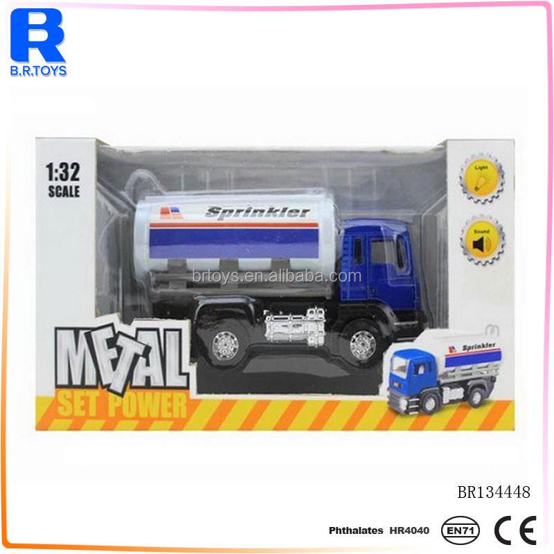 Diecast truck toys metal container trailer fuel tanker car truck