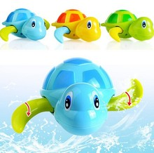 New born babies swim turtle wound-up chain small animal bath toy classic toys
