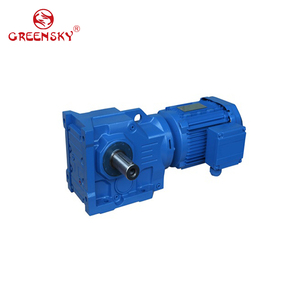 Transtecno style AC helical bevel motor speed gear reducer