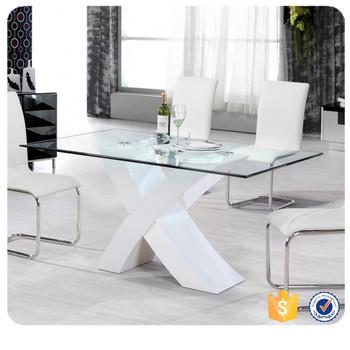 modelos de mesas con sillas de cristal para comedor
