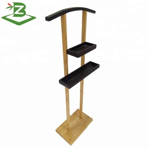 Bamboo Multifunctional Clothes Hanger With Storage Tray For Sunglasses/Watch_BSCI & FSC Factory