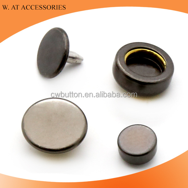 4 parts metal snap buttons for jackets