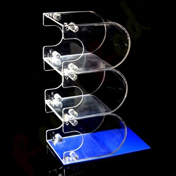 Counter top clear acrylic book newspaper magazine display holder