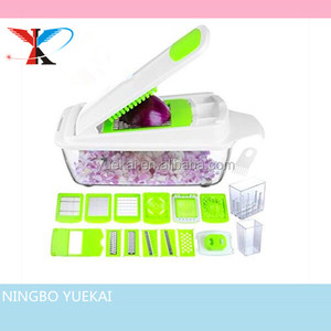 Vegetable Chopper Slicer Dicer Cutter & Grater - 11 Interchangeable Stainless Steel Blades