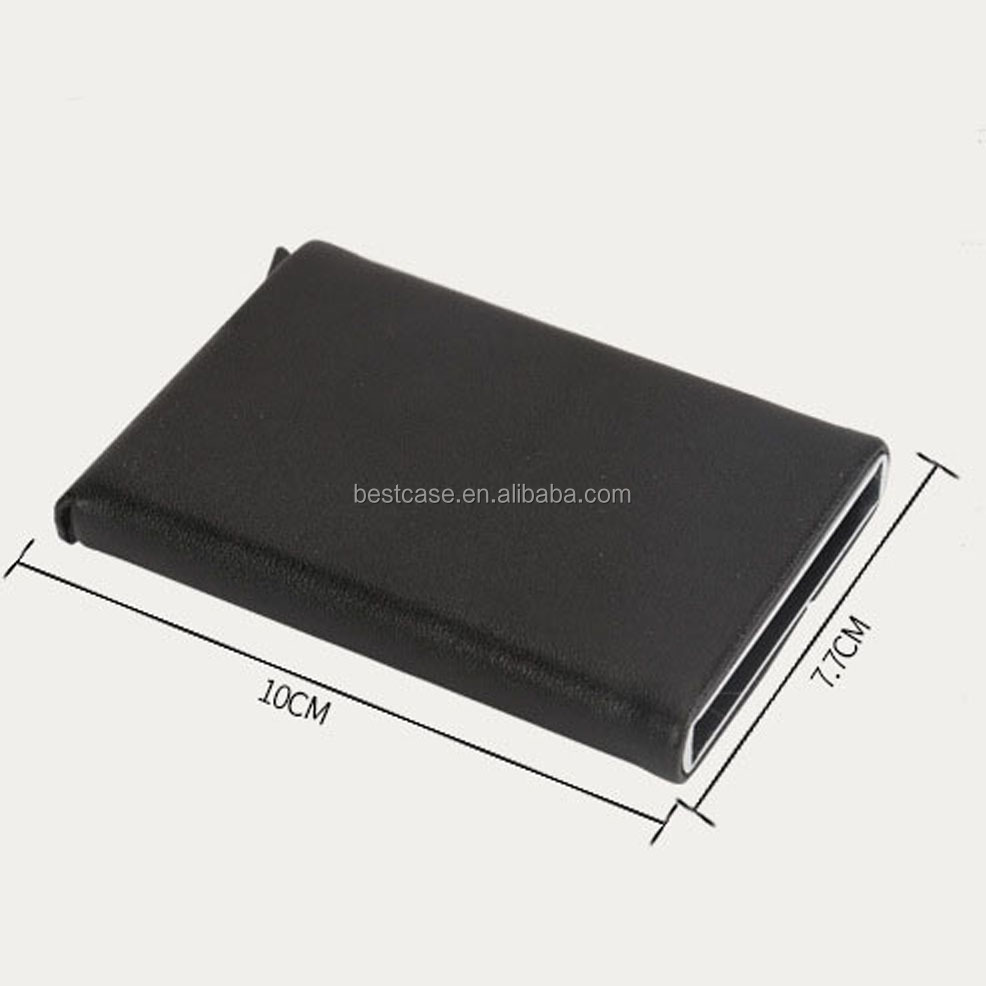 Yexiang manufacture Customized business rfid blocking credit metal aluminum alloy business credit card holder