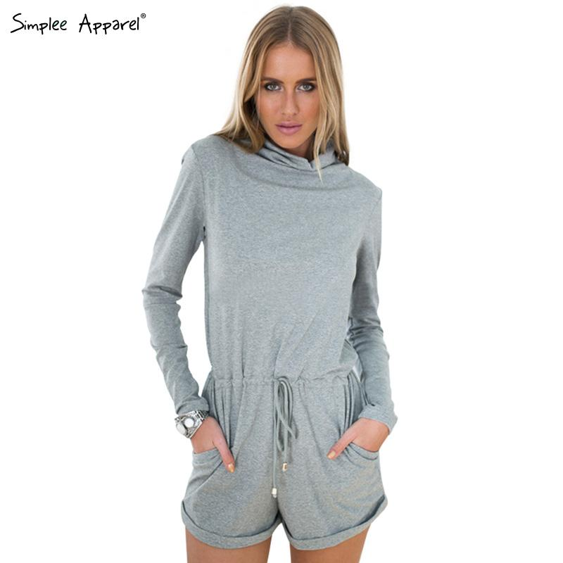 9bdff398446 Buy Simplee Apparel 2015 new arrival autumn winter women jumpsuit romper  Cotton long sleeve jumpsuit Tunic playsuit grey macacao in Cheap Price on  ...