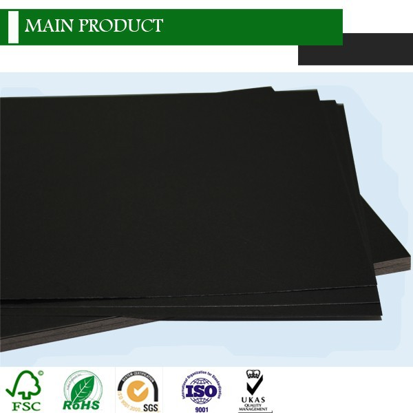 Asia black paper board/black chip board/black wax paper