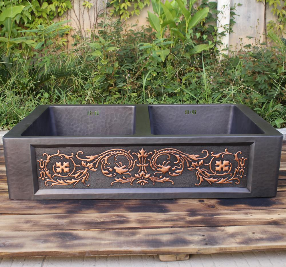 Oil Rubbed Bronze Farmhouse Sink.Handmade Oil Rubbed Bronze Patina Copper Kitchen Farmhouse Sink With Double Bowl Buy Handmade Kitchen Sink Oil Rubbed Bronze Patina Copper Kitchen