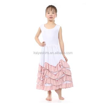 Neue Mode Mädchen Tank Lange Kleid Engel Stil Kinder Kleider ...