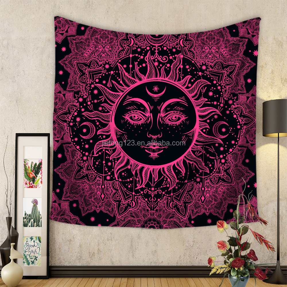 Home Decoration Cheap Wall Hanging Sun Hippy Mandala Bohemian Printing Tapestry