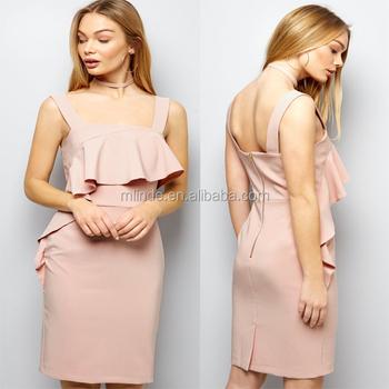 Rosa Abiti Volant Mature Blank Youth Abbigliamento Donne Shell 4L53RjqA