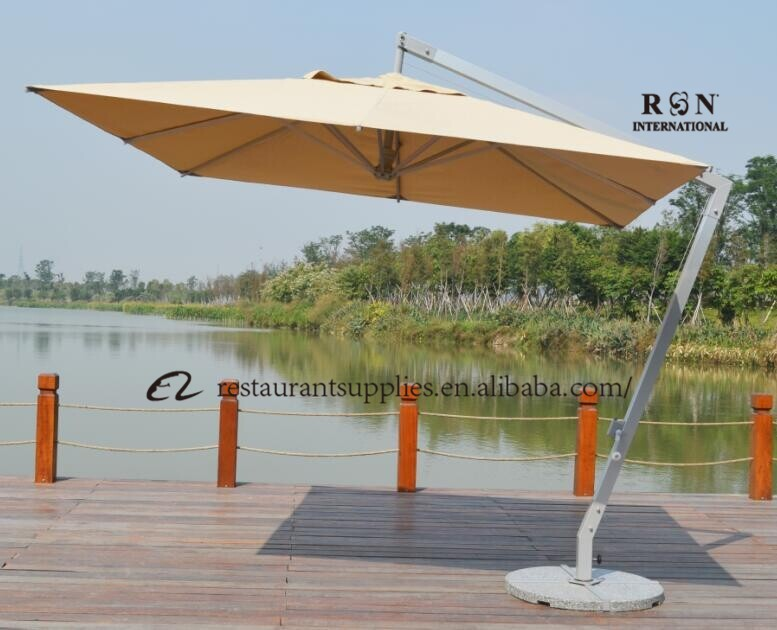 Large Adjustable Parasol Umbrella Restaurant Used Retractable Awning Outdoor Umbrella