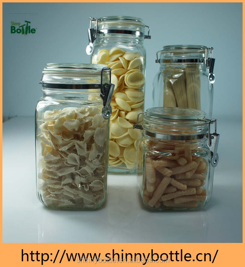 snack canning glass canisters set