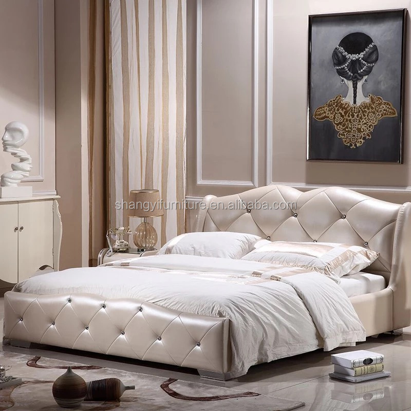 Antique Luxury French Style Bedroom Furniture Set Single White Leather Soft  Bed - Buy Luxury King Bedroom Sets,Royal Furniture Bedroom Sets,European ...
