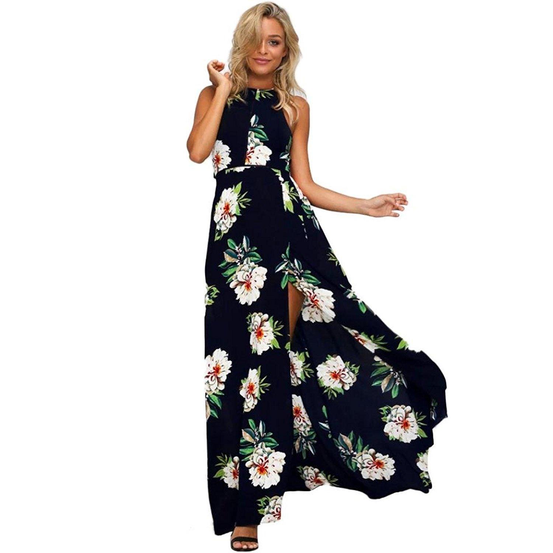 4b28c3366d Get Quotations · ✿Women Summer Sundress Wedding Dress✿,Todaies Women Floral  Chiffon Sleeveless Dress Backless Boho