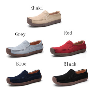 loafer shoes women flat suede leather upper China shoes new models gommino for ladies