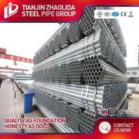 BS 1387 standard square hollow steel bar with high zinc