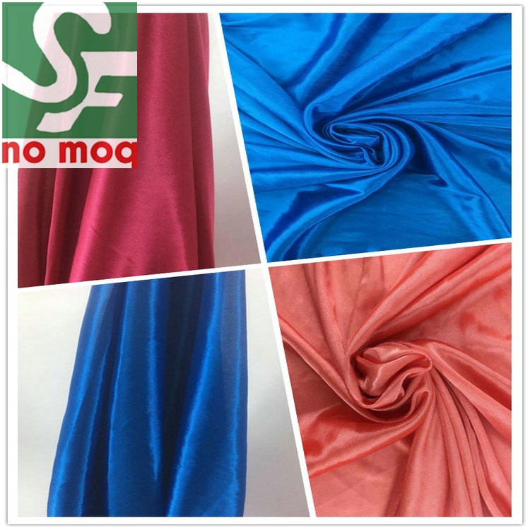 China New Style Knitting Glossy Dancing Dresses Fabric with 100% Poly Tricot Fabric